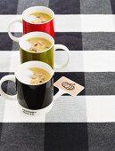 Pumpkin-celeraic soup with pumpkin seeeds