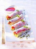 Fruity spring rolls