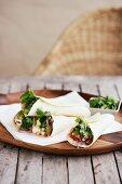Chicken tacos with coriander
