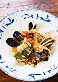 Fregola ai frutti di mare (couscous with seafood)