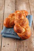 An Easter bread plait