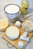 Haloumi, Gouda, Feta, Roquefort, Cheddar, Chevin and Saint Maure cheese