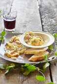 Blue cheese and pumpkin ravioli with rosemary and chilli butter
