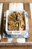 Spring chicken with Pernod and onions
