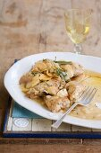 Chicken with apples and calvados