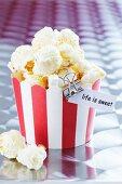 Popcorn in a muffin case