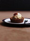 A chocolate banoffee tartlet