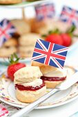 Scones with a Union Jack