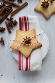An aniseed shortbread biscuit
