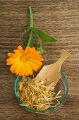 Pot Marigold blossom and tea