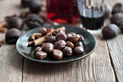 Chestnuts and spices