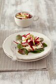 Beetroot salad with pears and quark