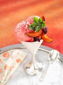 Damson yogurt ice cream