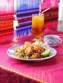 Shrimp Pad Thai; Cocktail