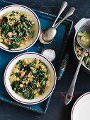 Zuppa di ceci e cicoria (chicory soup with chickpeas)