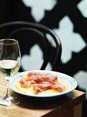 Polenta con la soppressata (polenta with salami, Italy)