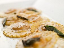 Veal and Sage Ravioli with a Sage Butter Sauce