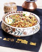 Curried rice with beef and egg (India)