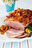 Roast ham with jam glaze