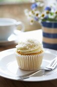 A lime and coconut cupcake