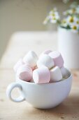 Marshmallows in a white cup