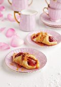 Puff pastries with plum filling