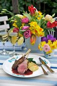 Lamb chops with redcurrant sauce for Easter