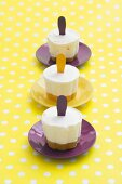 Passion fruit ice lollies