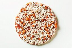 Whole Frozen Pizza on a White Background