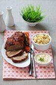Roast veal with ravioli
