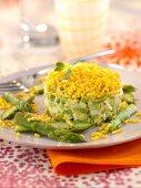 Asparagus tartar mimosa