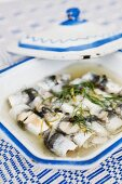 Pickled herring rolls (Scandinavia)