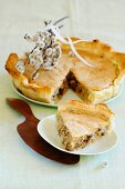 Easter cake with almonds and raisins