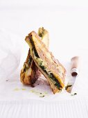 French toast filled with herbs
