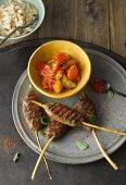 Kofta with rice and vegetables (Turkey)