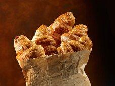 Croissants in a paper bag