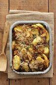 Potato casserole with parmesan