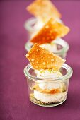 Elderflower and yogurt mousse with pistachios