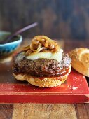 Cheeseburger with Caramelized Onions