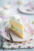 Melon cream layer cake