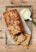 Nut bread with butter
