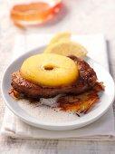 Veal liver on potato rösti with apple