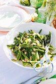 Asparagus and sugar snap pea salad