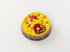 A Valentine's Day cake