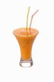 An apricot ice cream shake