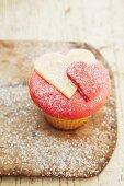 Cupcake mit Herzen