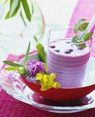 A blueberry shake