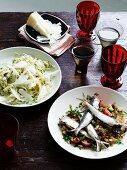 Sardines and an artichoke salad (Spain)