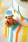 Monkey Decoration on a Circus Themed Cake