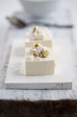 Cotton tofu with pistachios